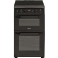 Hotpoint HD5V93CCB 50cm Double Oven Electric Cooker with Ceramic Hob - Black Best Price, Cheapest Prices