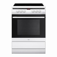 Amica 60cm Single Fan Oven Electric Cooker with Ceramic Hob - White Best Price, Cheapest Prices
