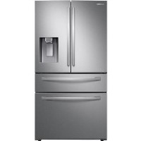GRADE A3 - Samsung RF24R7201SR Freestanding American Fridge Freezer With Ice And Water Dispenser - Silver Best Price, Cheapest Prices