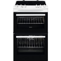 Zanussi 55cm Double Oven Electric Cooker - White Best Price, Cheapest Prices