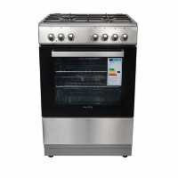 Refurbished electriQ 60cm Single Oven Dual Fuel Cooker - Stainless Steel