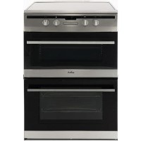 Amica 60cm Double Oven Electric Cooker with Induction Hob - Stainless Steel Best Price, Cheapest Prices