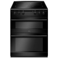 Amica 60cm Double Oven Electric Cooker with Ceramic Hob - Black Best Price, Cheapest Prices