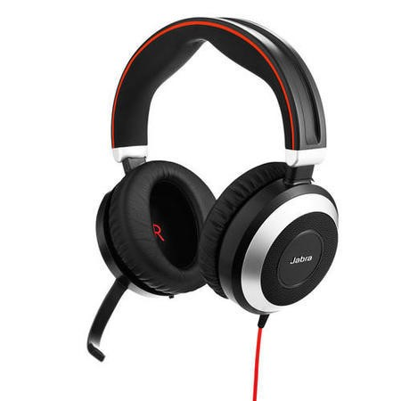 Jabra Evolve 80 Duo - also 3.5mm with Active Noise Cancellation