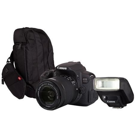 Canon EOS 700D SLR Kit inc 18-55mm Lens 300EG Bag 270EX II Speedlite  8596B027AA 300GFLASH