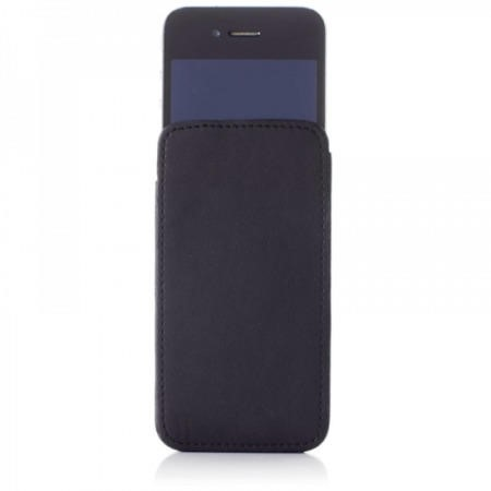 Knomo Designer iPhone 4S Sleeve Leather with pull-up Black - 90-941-BLK