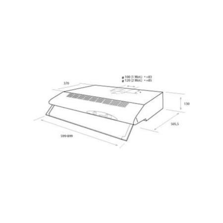 Elica 90CST-SS Concorde 90cm Conventional Cooker Hood With High Power Motor Stainless Steel