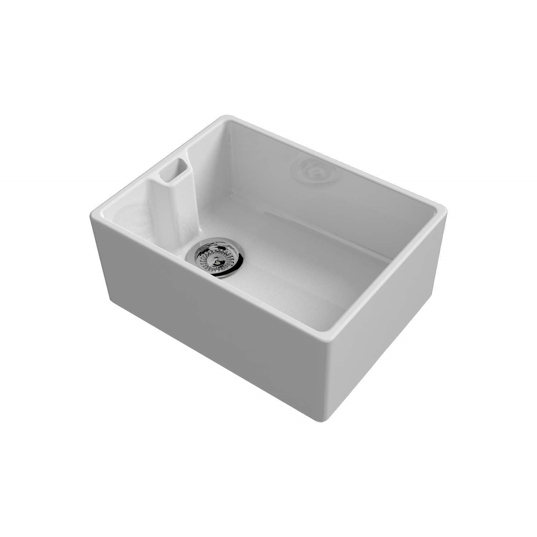 Reginox BELFAST CONTEMPORARY Extra Deep Large 1.0 Bowl Ceramic Sink White
