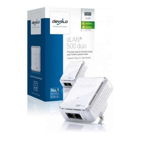 Devolo dLAN Powerline 500 Duo Fast Ethernet 2x LAN