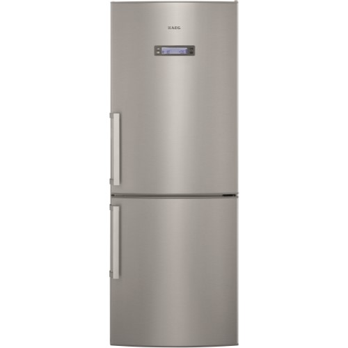 AEG S74011CMX2 Freestanding Fridge Freezer In Silver With Antifingerprint Stainless Steel Doors