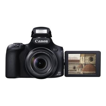 Canon PowerShot SX60 HS Camera Black 16.1MP 65xZoom 3.0LCD FHD 21mm Wide WiFi
