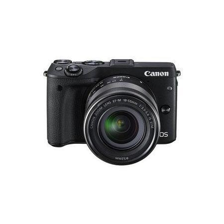 Canon EOS M3 Black CSC Camera + EF-M 18-55mm Lens