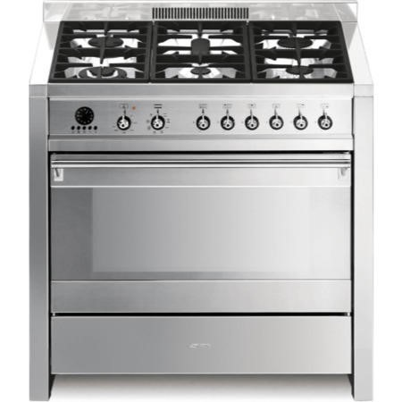 Smeg A1-7 Opera 90cm Dual Fuel Range Cooker - Stainless Steel