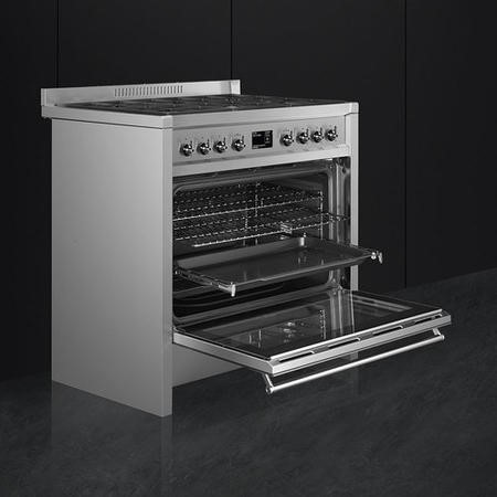 Smeg A1-9 Opera 90cm Dual Fuel Range Cooker Stainless Steel