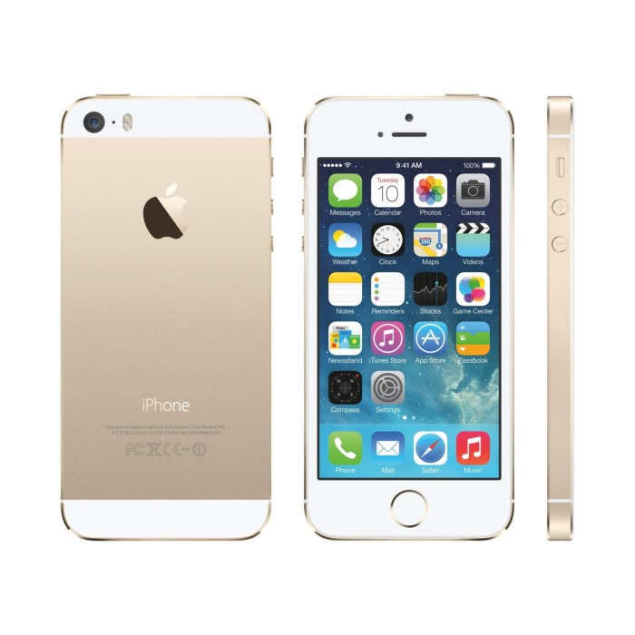 refurbished apple iphone 5s gold 4 16gb 4g unlocked sim free a1 me434b a appliances direct. Black Bedroom Furniture Sets. Home Design Ideas
