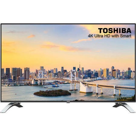 Refurbished Toshibe 55'' 4K Ultra HD with HDR LED Freeview Play Smart TV without Sta