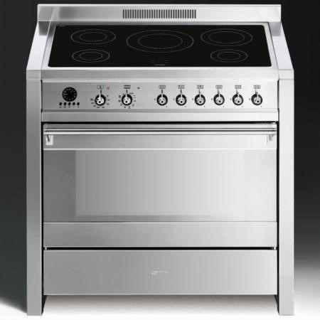 Smeg A1PYID-7 Opera 90cm Electric Range Cooker With Induction Hob - Stainless Steel