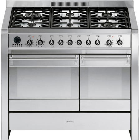 Smeg A2-8 Opera 100cm Dual Fuel Range Cooker in Stainless Steel