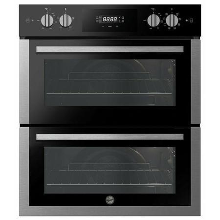 Refurbished HOOVER HO7DC3UB308BI H-OVEN 300 Built Under 60cm A/A Electric Double Oven