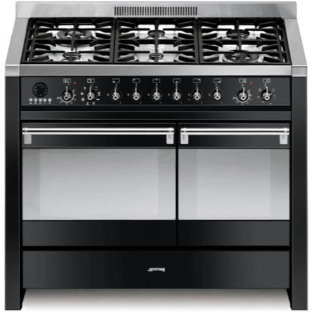 Smeg A2BL-8 Opera 100cm Dual Fuel Range Cooker in Black