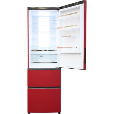 Haier A2FE635CRJ Frost Free Red Freestanding Fridge Freezer
