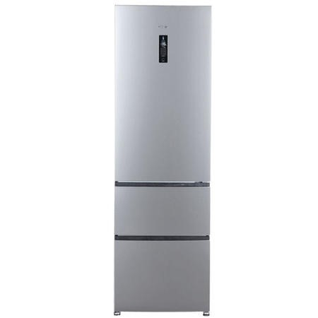 GRADE A2  - Haier A2FE735CXJ 191x60cm Frost Free Freestanding Fridge Freezer With MyZone - Stainless