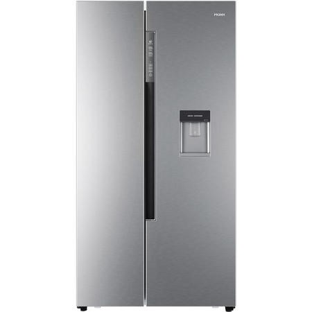 Haier HRF-522WS6 Side-by-side American Fridge Freezer With Non-Plumbed Water Dispenser - Silver