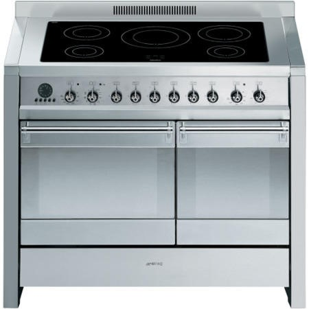 Smeg A2PYID-8 Opera Stainless Steel 100cm Electric Range Cooker with Induction Hob & Multifunction Pyrolytic Oven