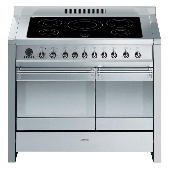 Smeg A2PYID-8 Opera Stainless Steel 100cm Electric Range Cooker with ...