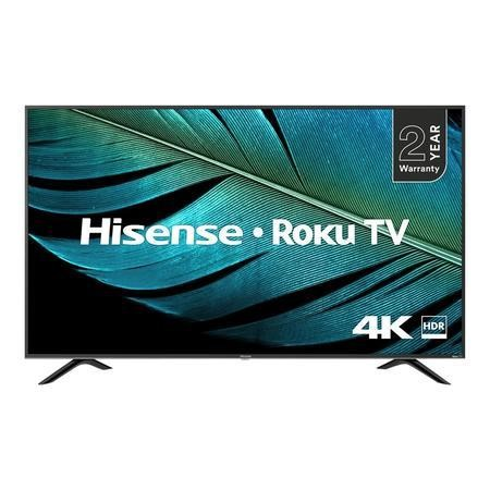 "Refurbished Hisense Roku 43"" 4K Ultra HD with HDR LED Freeview Play Smart TV without Stand"