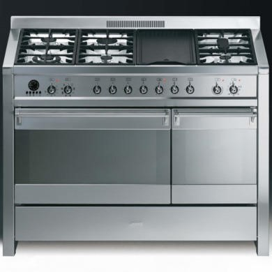 77180941/1/A3-7 Smeg Opera 120cm Dual Fuel Range Cooker - Stainless Steel