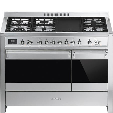 Smeg A3-81 Opera 120cm Duel Fuel Range Cooker - Stainless Steel & Eclipse Glass