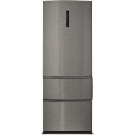haier a3fe742cmj 3 door door and drawer fridge freezer silver appliances direct. Black Bedroom Furniture Sets. Home Design Ideas