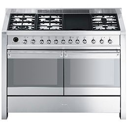 77231237/1/A4-8 GRADE A1 - As new but box opened - Smeg A4-8 Opera 120cm Dual Fuel Range Cooker - Stainless Steel