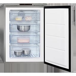 AEG A81000TNX1 Freestanding Under Counter Freezer Silver With Stainless Steel Door