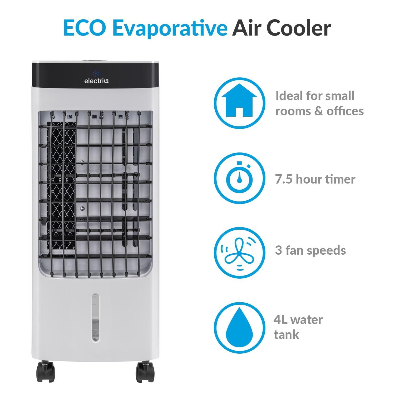 Fräscha electriQ Slimline ECO Evaporative Air Cooler with built-in Air CZ-01