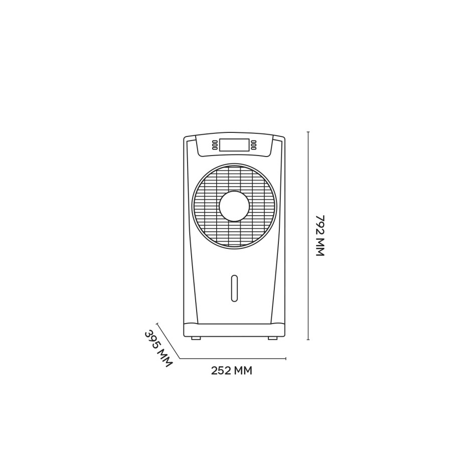 Slimline ECO Evaporative Air Cooler and Humidifier AC80E