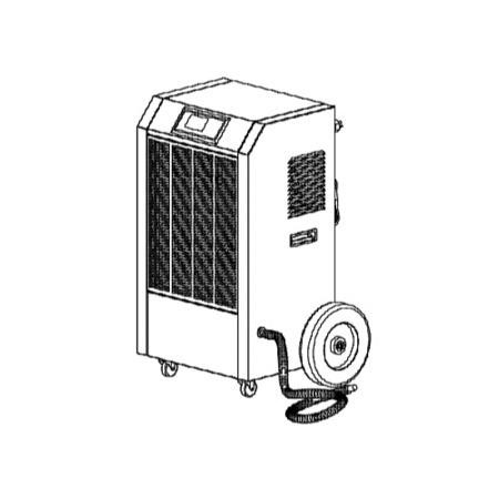Amcor 90 litre per day Commercial Dehumidifier on Large wheels with digital humidistat and uplift pump