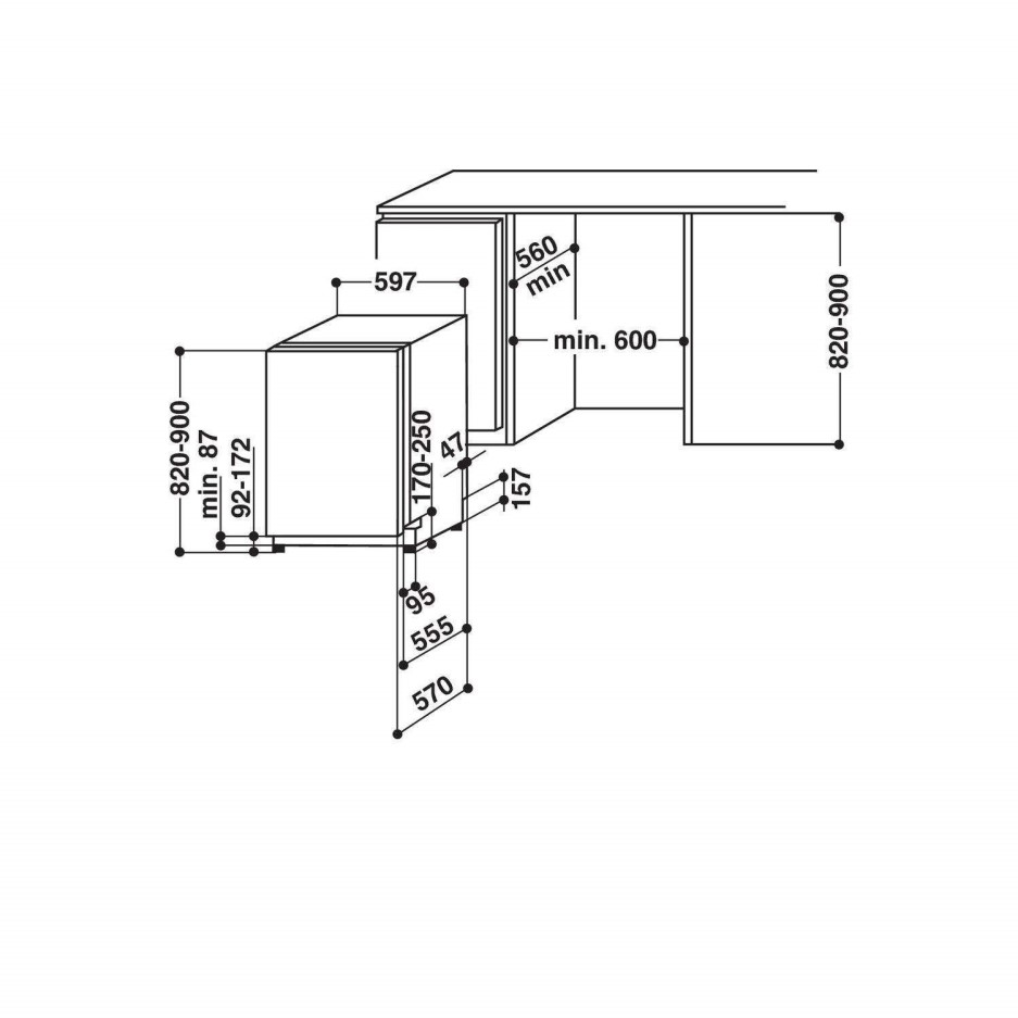Whirlpool ADG8900 6th Sense 13 Place Fully Integrated