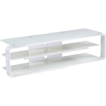 "Alphason ADL1400-WHT Lithium White TV Stand for up to 72"" TVs"