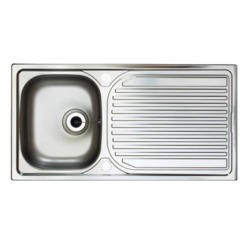 Astracast AE10XXHOMESK Aegean Single Bowl Reversible Drainer Satin Polish Stainless Steel Sink Only