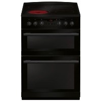 Amica AFC6550BL 60cm Double Oven Electric Cooker With Ceramic Hob - Black Best Price, Cheapest Prices