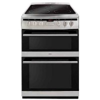 Amica AFC6550SS 60cm Double Oven Electric Cooker With Ceramic Hob - Stainless Steel Best Price, Cheapest Prices