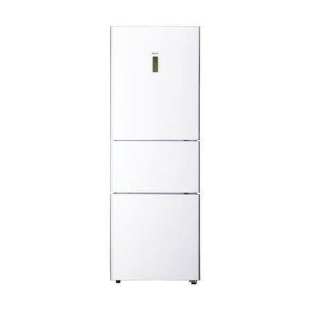 Haier Afd626tgw White Glass 3 Door Frost Free Freestanding Fridge