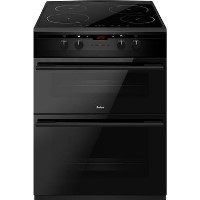 Amica AFN6550MB 60cm Double Oven Electric Cooker with Induction Hob - Black Best Price, Cheapest Prices