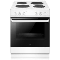 Amica AFS1630WH 60cm Four Zone Sealed Plate Hob Electric Cooker - White Best Price, Cheapest Prices