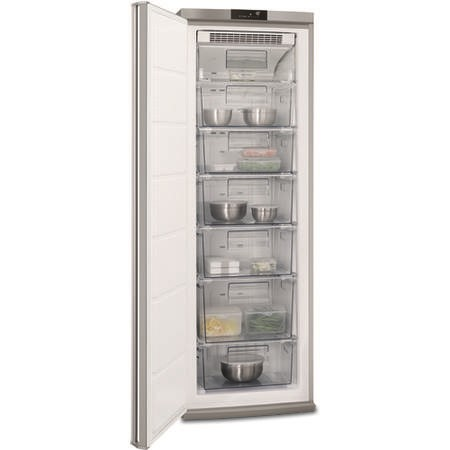 AEG AGE62526NX 185x60cm 250L No Frost Touch Control Freestanding Freezer - Stainless Steel
