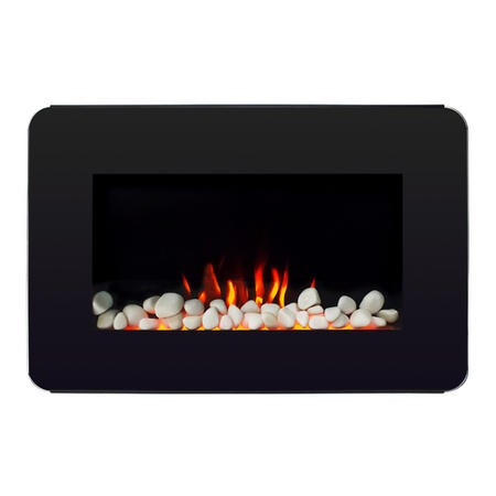 AmberGlo Modern Wall Mounted Electric Fire