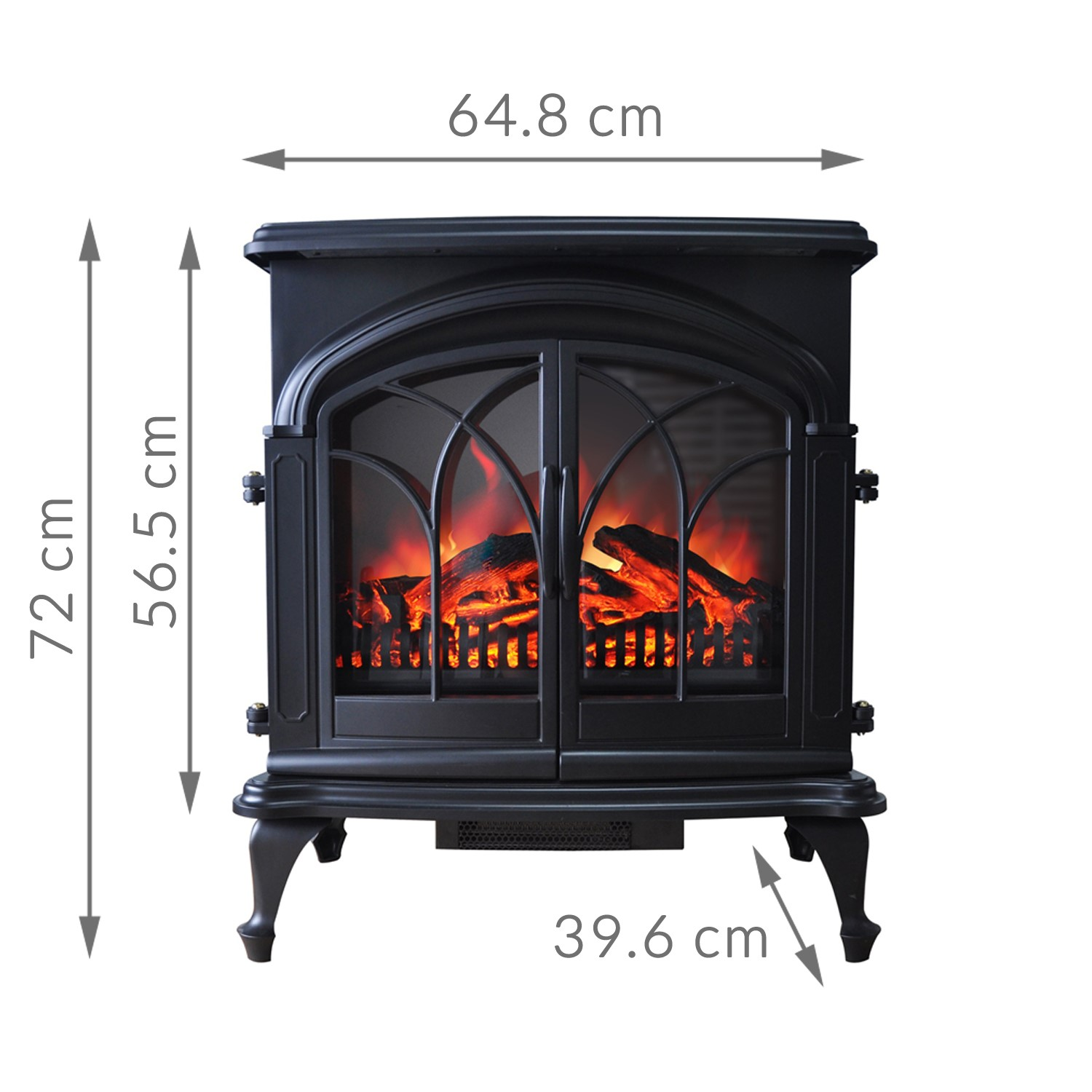 2KW ELECTRIC FIREPLACE Heater Black