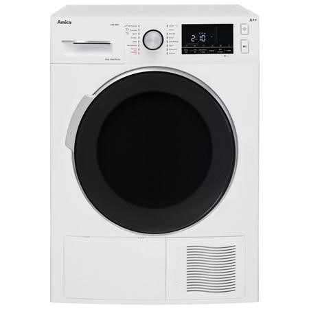 Amica AHD8WH 8kg Freestanding Heat Pump Condenser Tumble Dryer - White